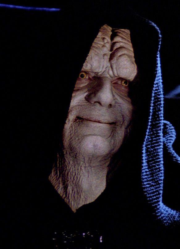 emperor palpatine smiles in return of the jedi