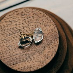"""<a href=""""http://satomikawakita.com/collections/earrings/products/e2001"""">Herkimer Diamond Studs</a>, $155"""