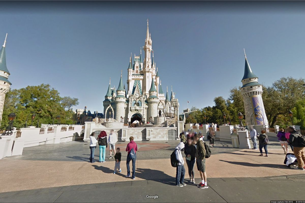 You can now pretend youre in disneyland on google maps the verge magic kingdom on google maps publicscrutiny Images