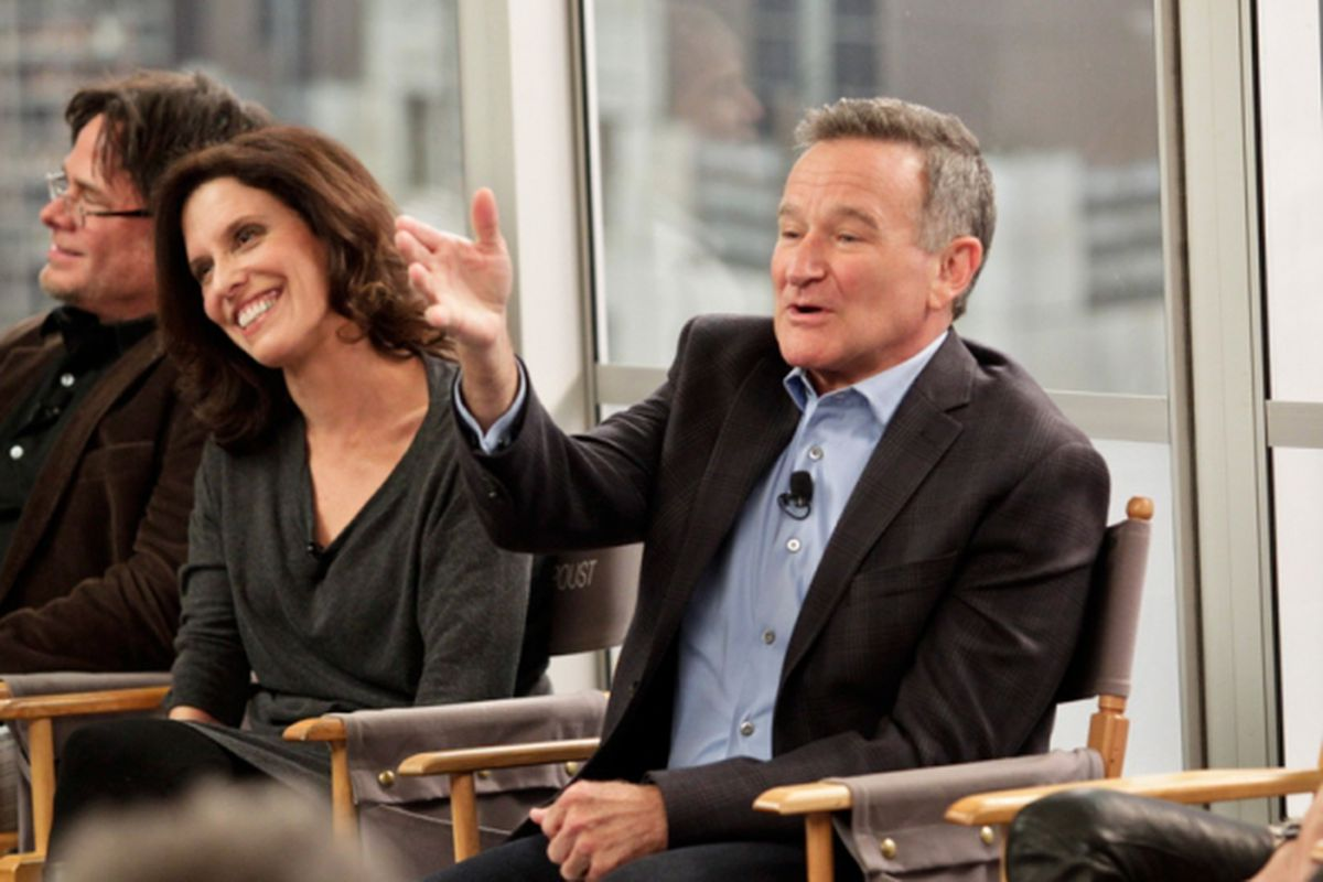 Robin Williams at the January Television Critics Association press tour session for The Crazy Ones.