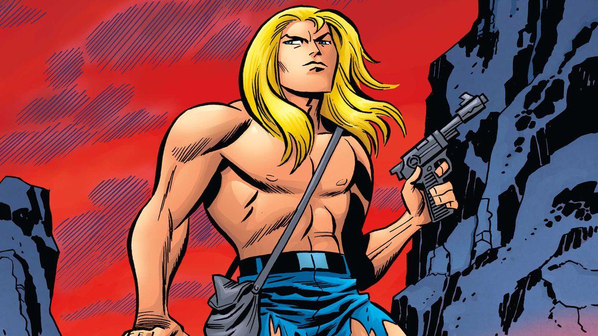 An illustration of Kamandi from DC Comics' The Kamandi Challenge #1