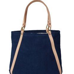 Blue A tote, $220