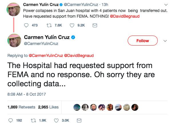 Mayor Cruz on FEMA's response
