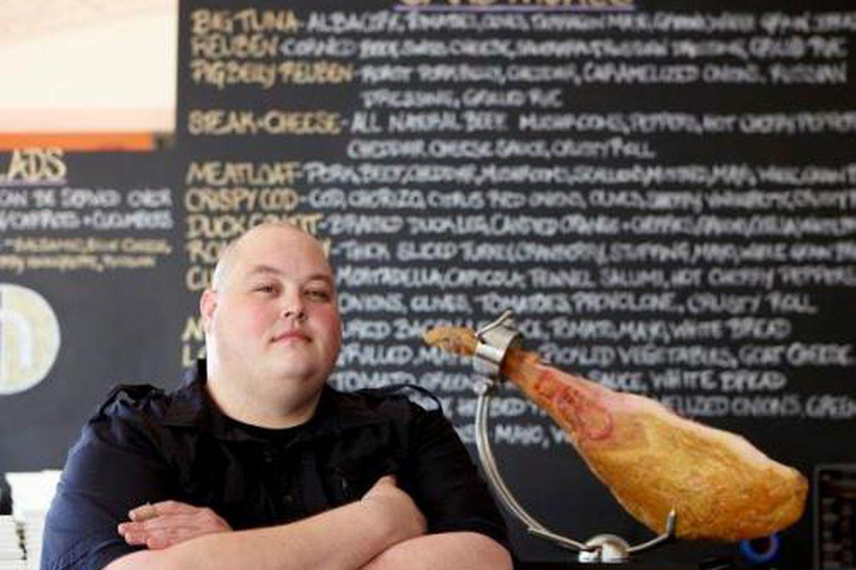 "Nosh Kitchen Bar executive chef/owner Jason Loring Photo: Zack Bowen/<a href=""https://www.facebook.com/NoshKitchenBar"">Facebook</a>]"