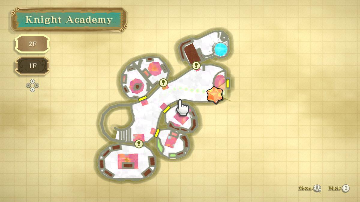 A map in The Legend of Zelda: Skyward Sword HD