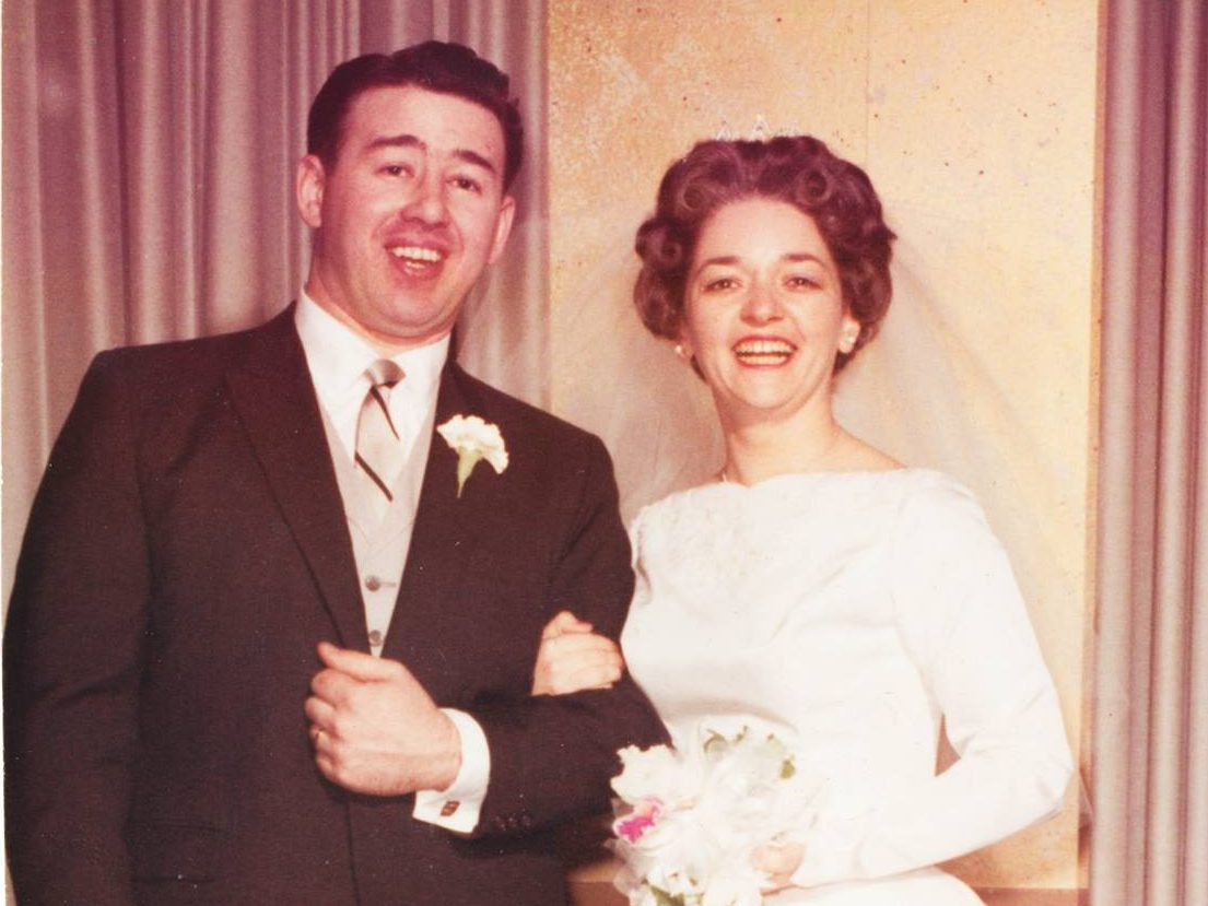 Noel and Sheila Rice on their wedding day in 1961. | Facebook