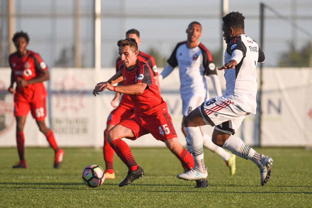 USL Photo - Luca Uccello on the ball in midfield for TFC II against the Ottawa Fury