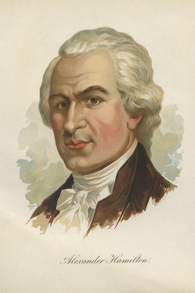 Painting of Alexander Hamilton.