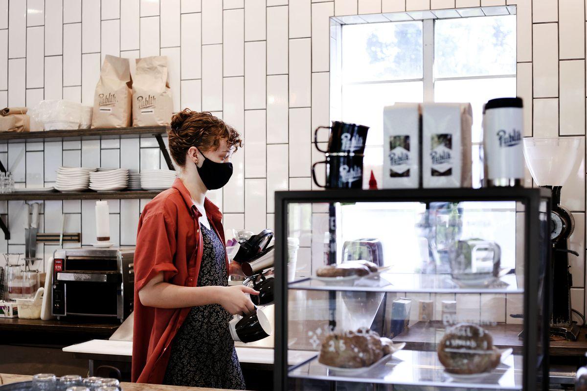 Kate Comstock works at Publik Coffee Roasters in Salt Lake City.