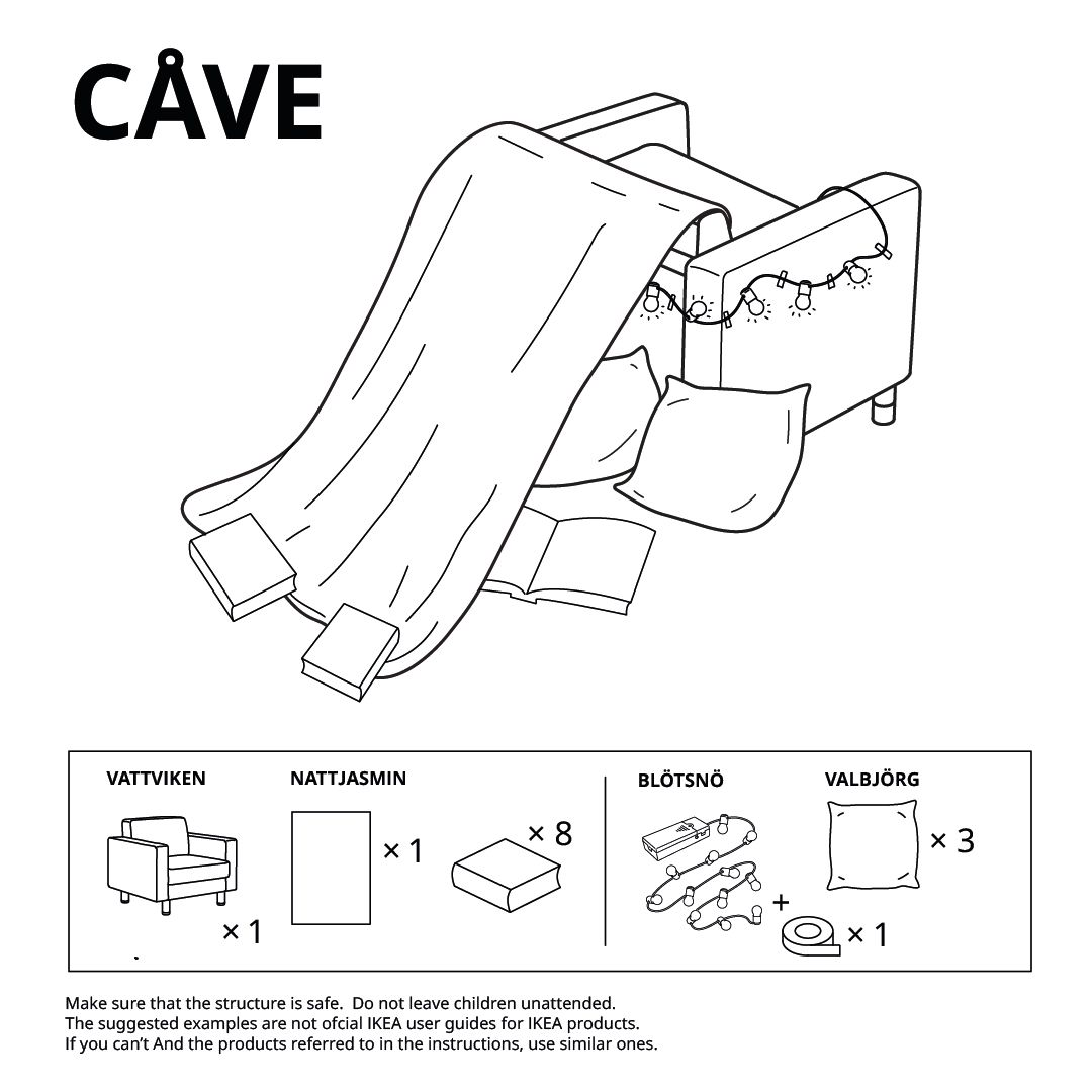 Illustration of an armchair with sheet hung over it.