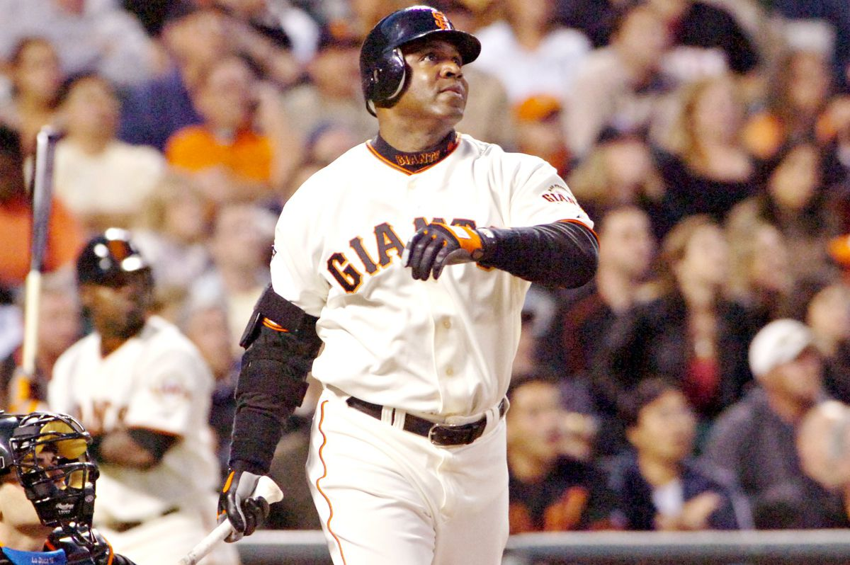 San Francisco Giants slugger Barry Bonds connects for his 745 career homerun during action against the New York Mets Tuesday, May 8, 2007, at AT&T park in San Francisco, Calif. (Ron Lewis/San Mateo County Times)