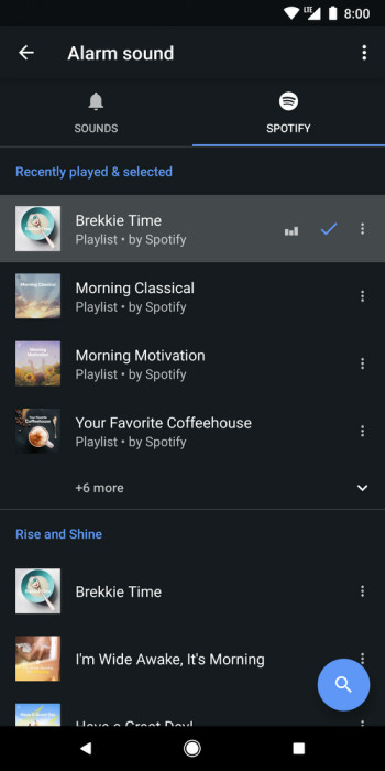 Wake up with your favorite Spotify playlists in new Google Clock