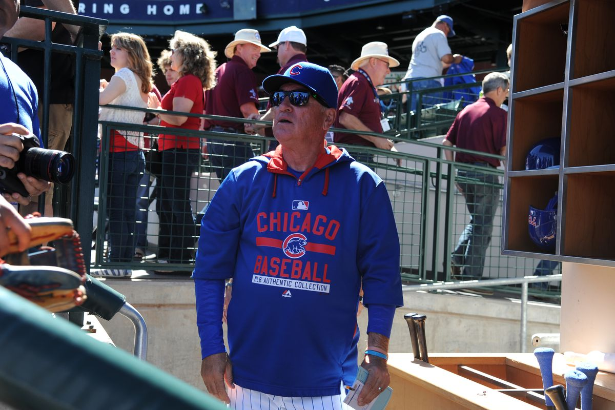 What is Joe Maddon doing here? Write your own caption