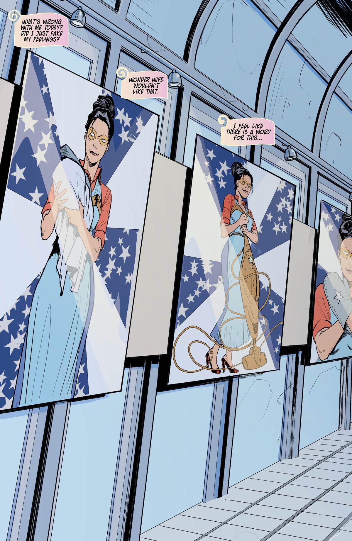 神奇女侠在她的Milk Wars搭配中变得非常情绪化和超级奇怪