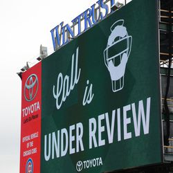 3:59 p.m. Display on the left-field video board -