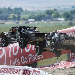 Racers compete in the Pro 2 division in the Lucas Off-Road races in Tooele on Saturday, June 24, 2017.