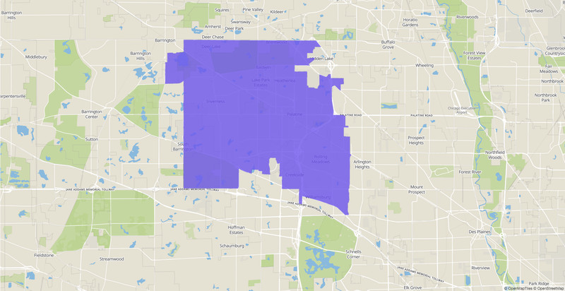 Illinois House 54th District map.