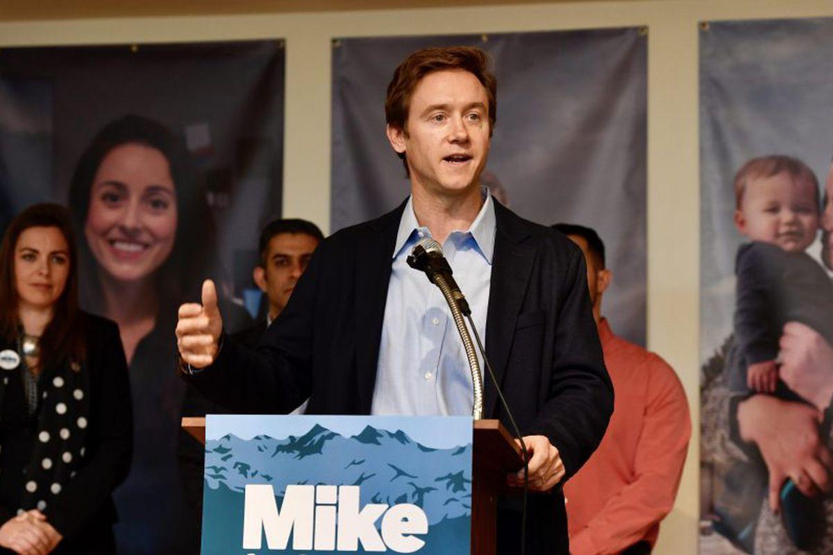 Former Colorado state Sen. Mike Johnston announces his bid to run for Colorado governor in 2017 (Andy Cross, The Denver Post).