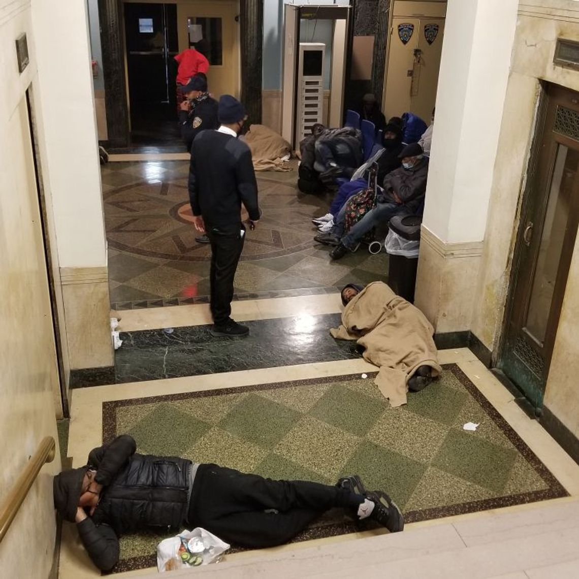 A recent overnight scene from the 30th Street Men's shelter near Bellevue Hospital.