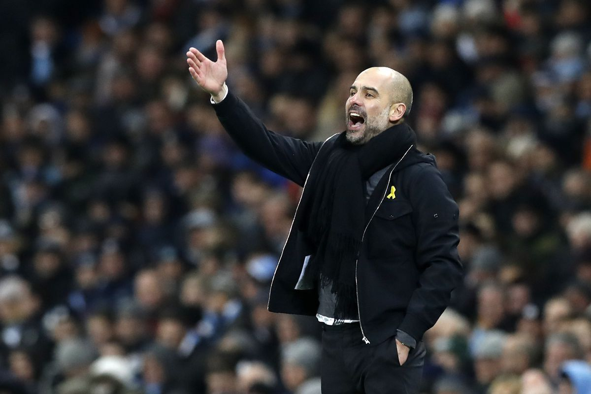Image result for cardiff 0-2 man city fa cup pep guardiola
