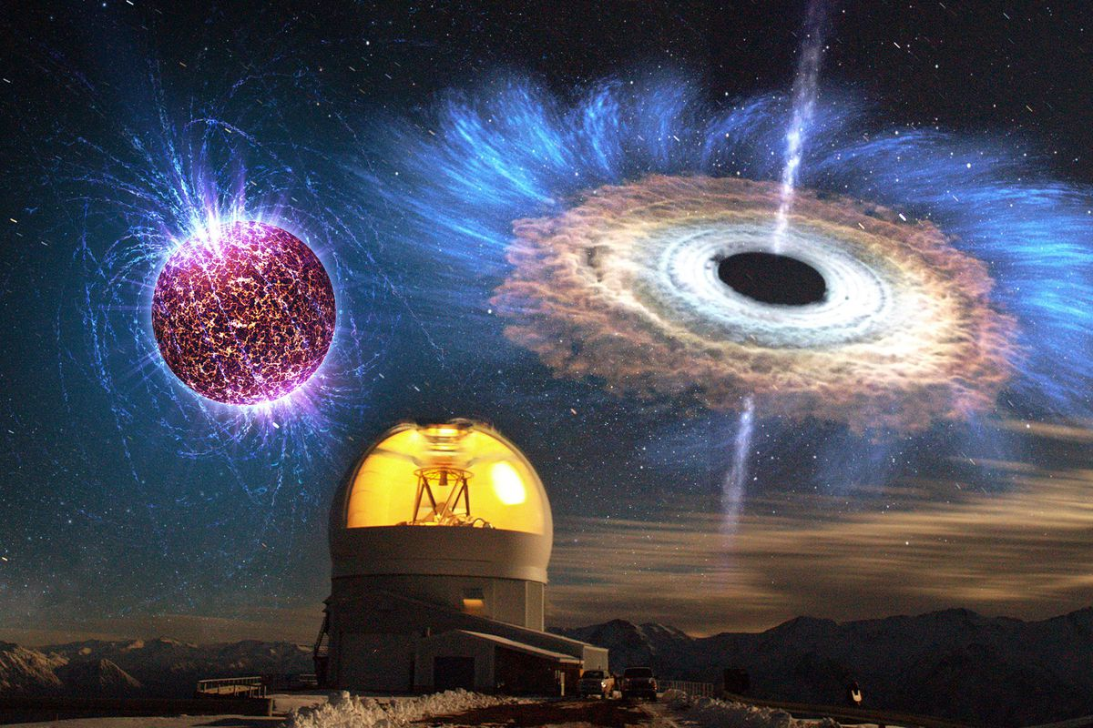 Astronomers see the signatures of a newly birthed black hole or