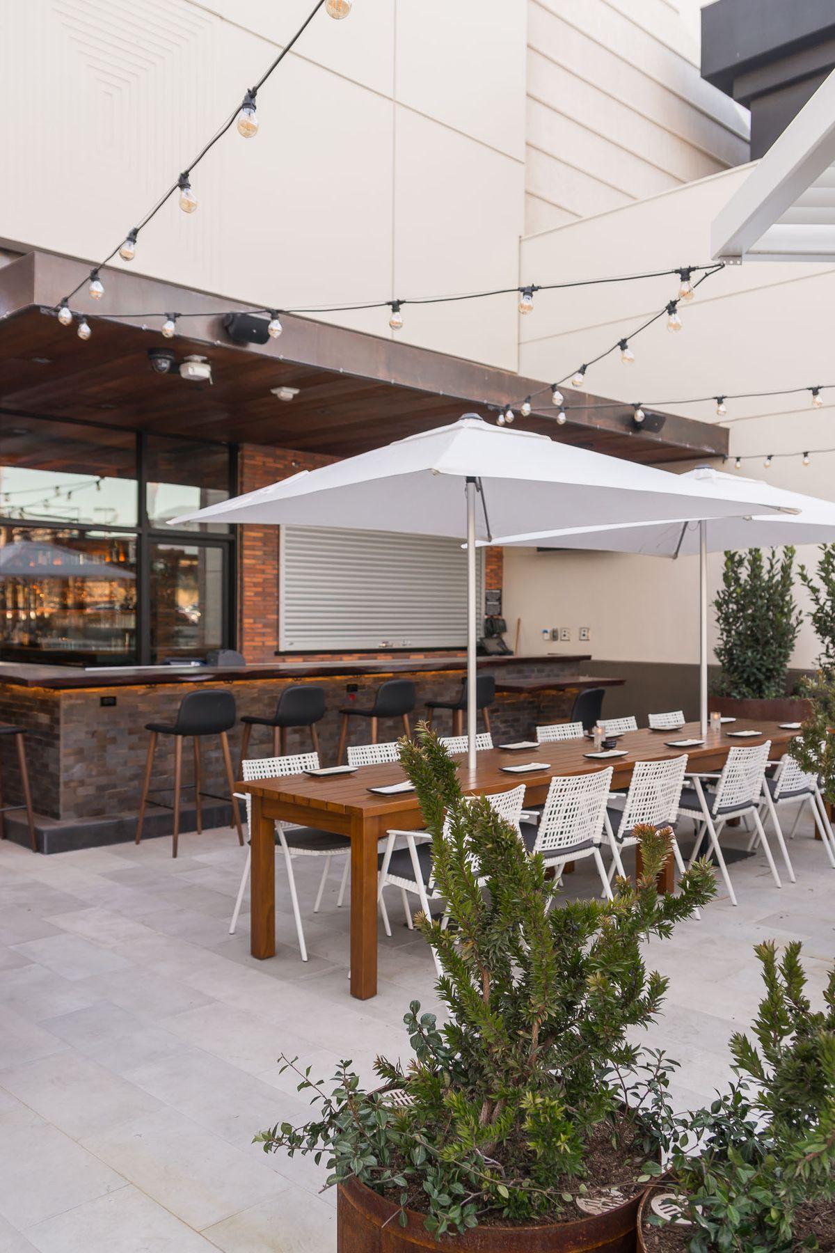 The patio at Blue Ribbon Sushi Bar & Grill