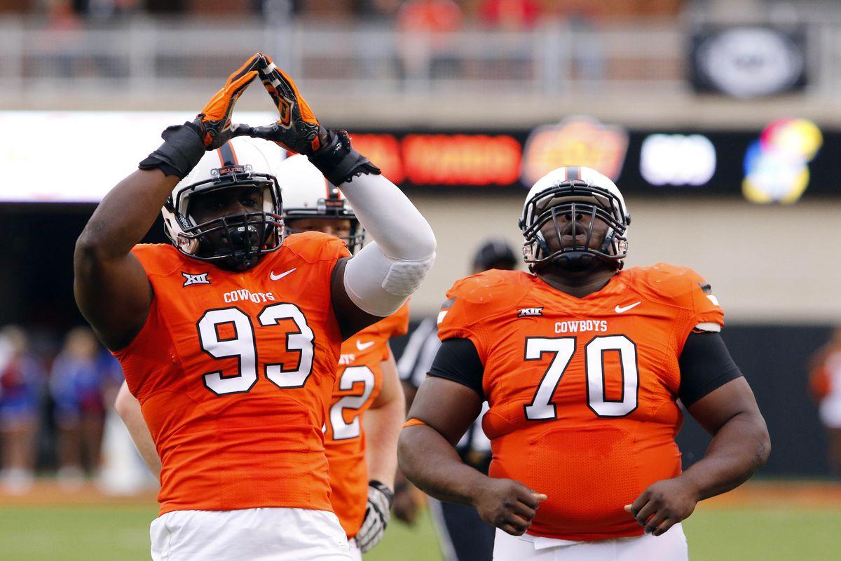 OSU celebrates a safety last week against Kansas