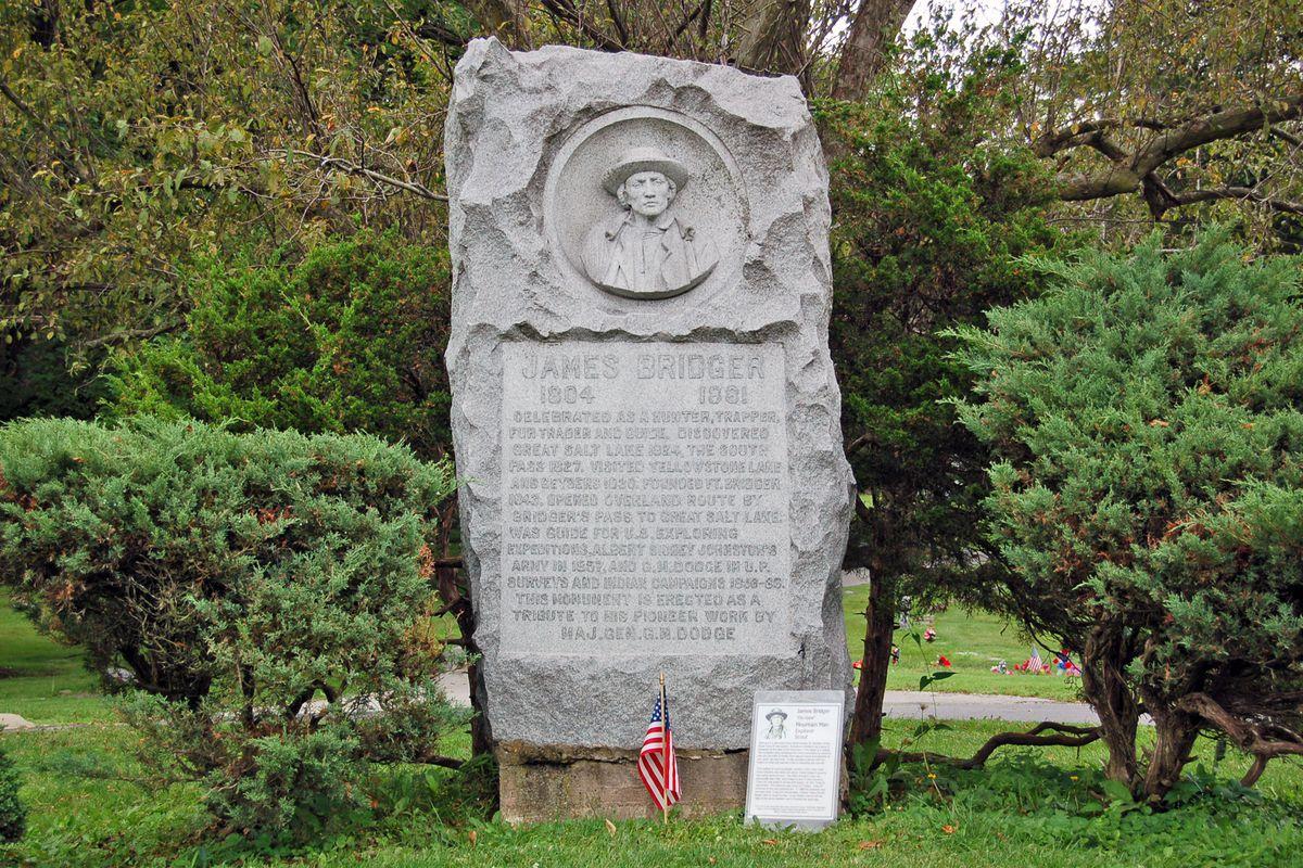 Grave of Jim Bridger in Independence, Missouri.