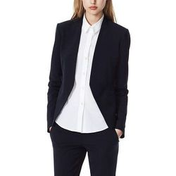 "<b>Theory</b> Lanai Blazer in Uniform, <a href=""http://www.theory.com/Lanai-Urban-Stretch-Wool-Blazer/D0005111,default,pd.html?dwvar_D0005111_color=001&start=1&cgid=womens-jackets-coats"">$375</a>"