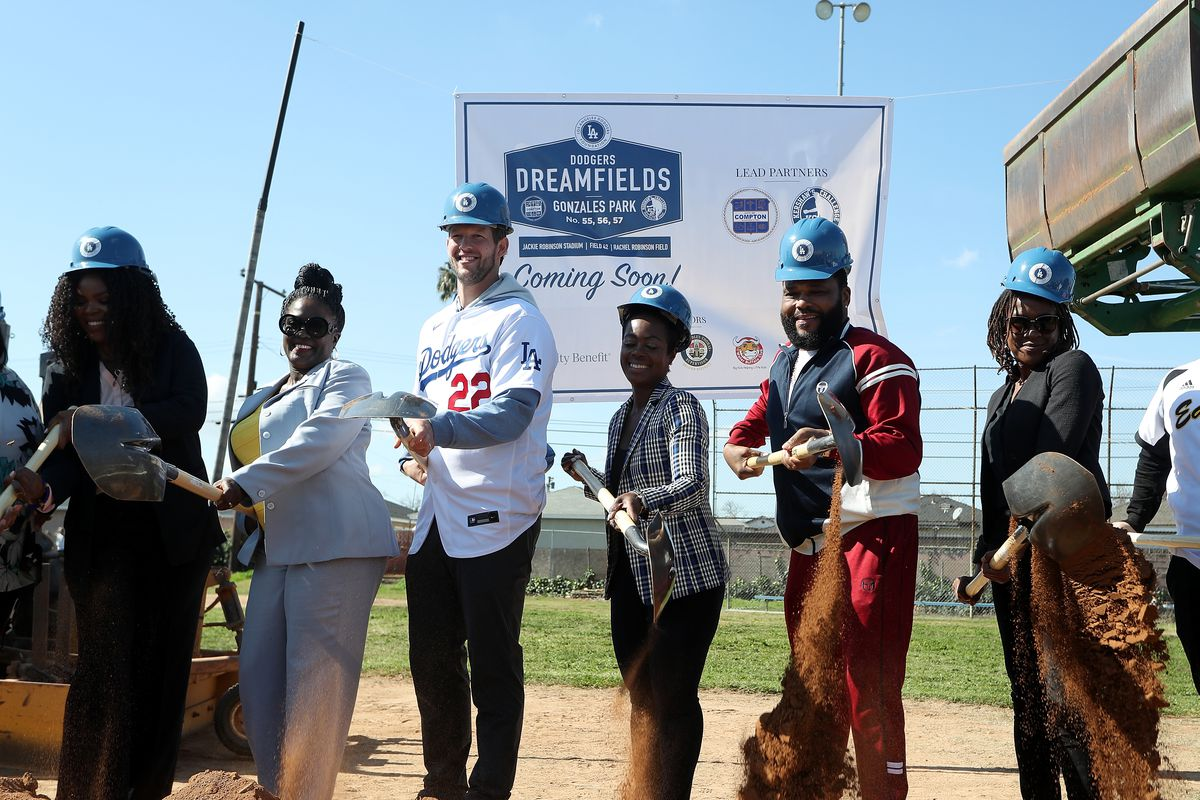 The Los Angeles Dodgers Foundation, Kershaw's Challenge And The City Of Compton Host Dodgers Dreamfields Groundbreaking
