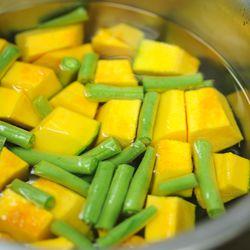 Par-boiling the kabocha squash . | Victor Hilitski/For the Sun-Times