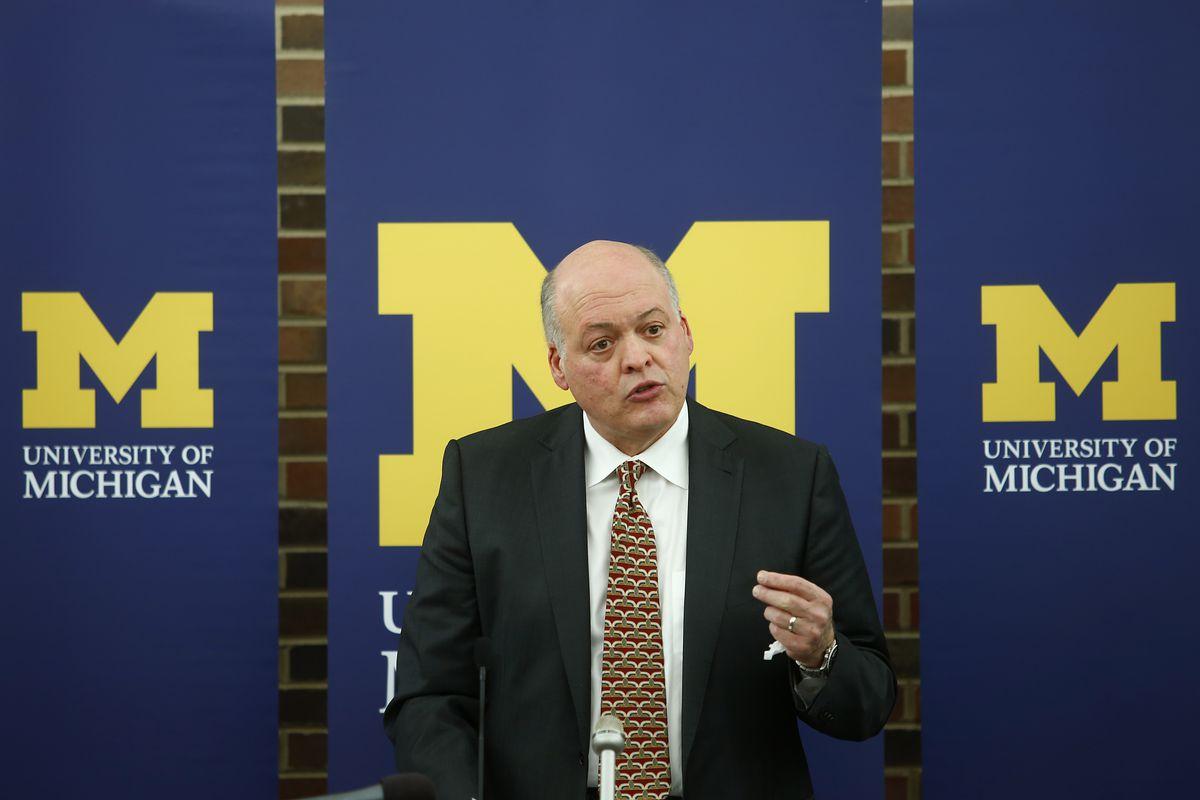 University Of Michigan Press Conference Announcing Athletic Director David Brandon Resignation
