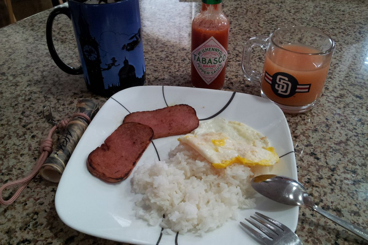 My Filipino breakfast this morning while I watch Padres Social Hour and get ready to watch Cash on the mound. QUACK!!