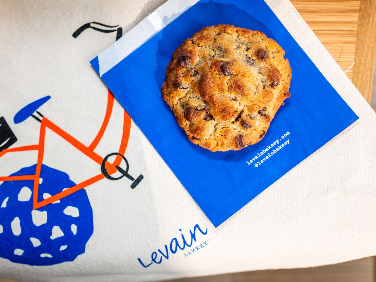 Levain's classic walnut and chocolate chip cookie