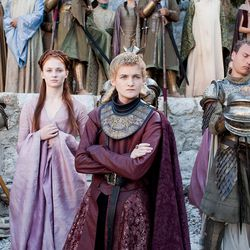 Season 2: Remember when Sansa was going to marry Joffrey? She's practicing queen hair here.