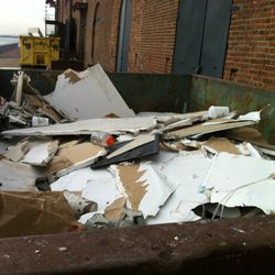 The Mile End team had to use three dumpsters to throw away sheetrock, garbage, and damaged items