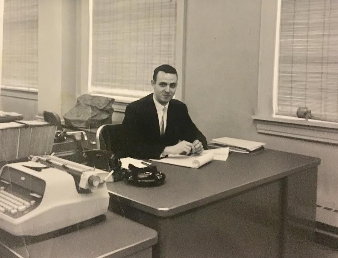 Pat Martin's mind was full of ideas, but he kept his Leo Burnett office free of clutter.   Provided photo