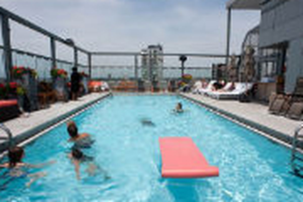 Get Dirty (And Maybe Sick) In Gansevoort Hotel's Roof Pool