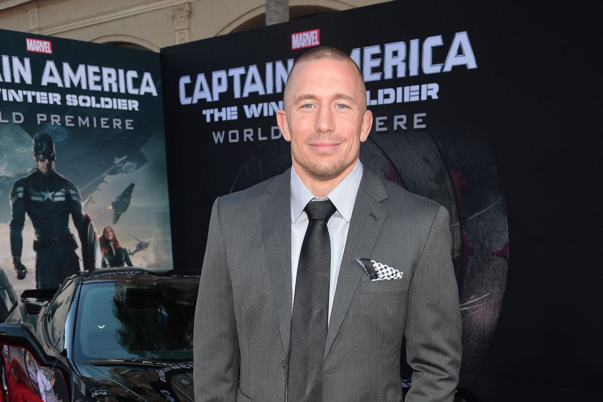 """Georges St-Pierre attends Marvel's """"Captain America: The Winter Soldier"""" Premiere."""