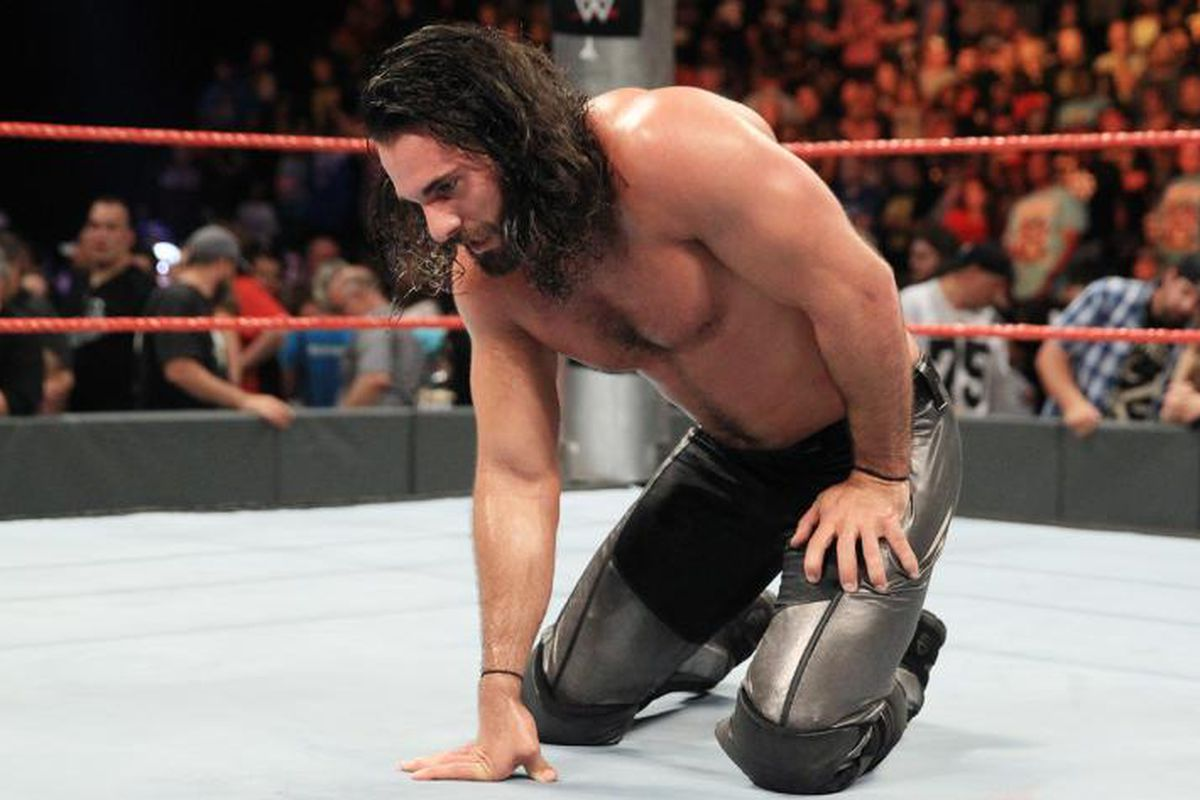 Seth Rollins reacts to being cheated out of a victory at Clash of Champions