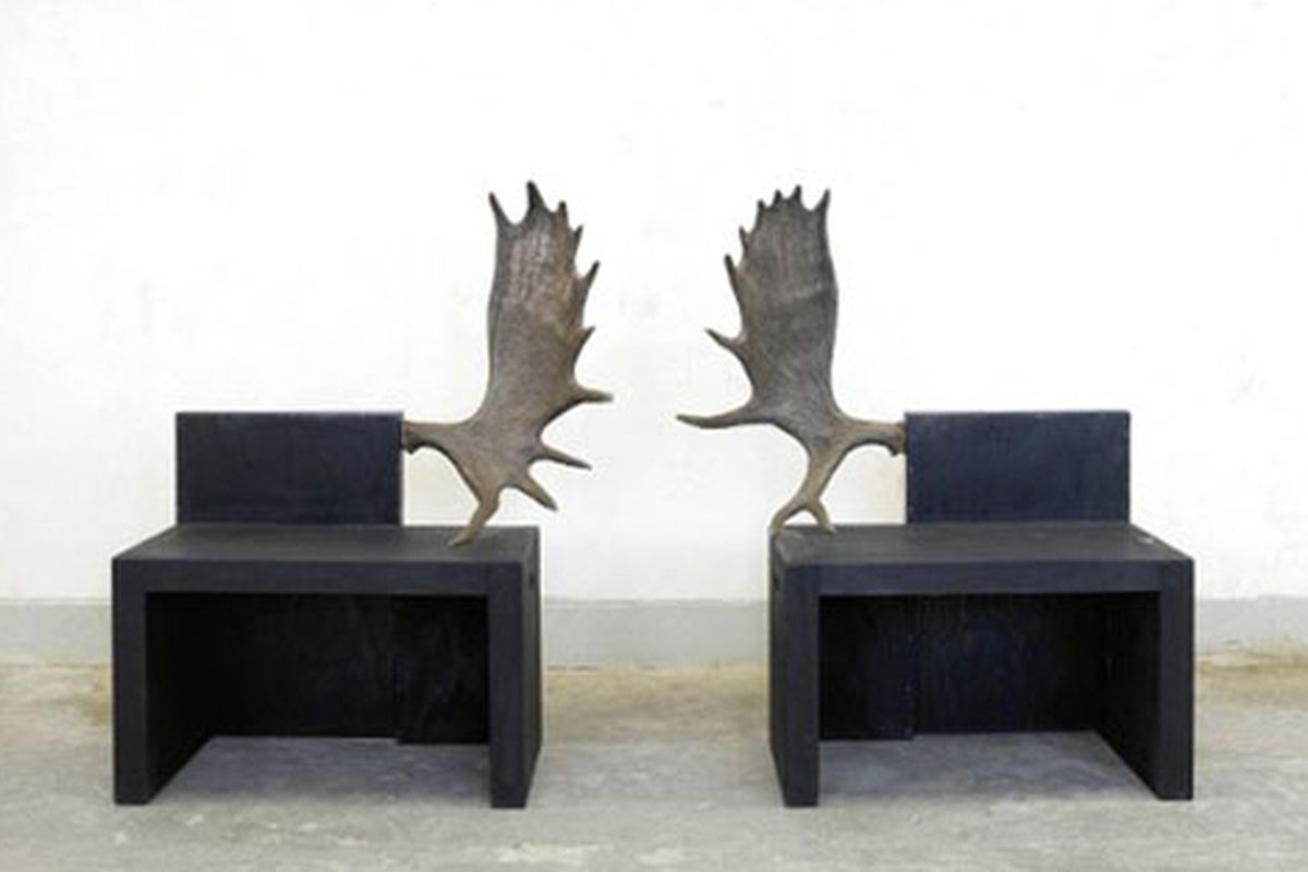 """What else would you expect from a show called To Pop a Boner? Image via <a href=""""http://hypebeast.com/2010/04/rick-owens-pop-boner-furniture-show/"""">HypeBeast</a>"""