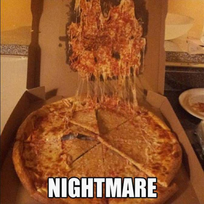 The pizza topping fail has become an internet meme.