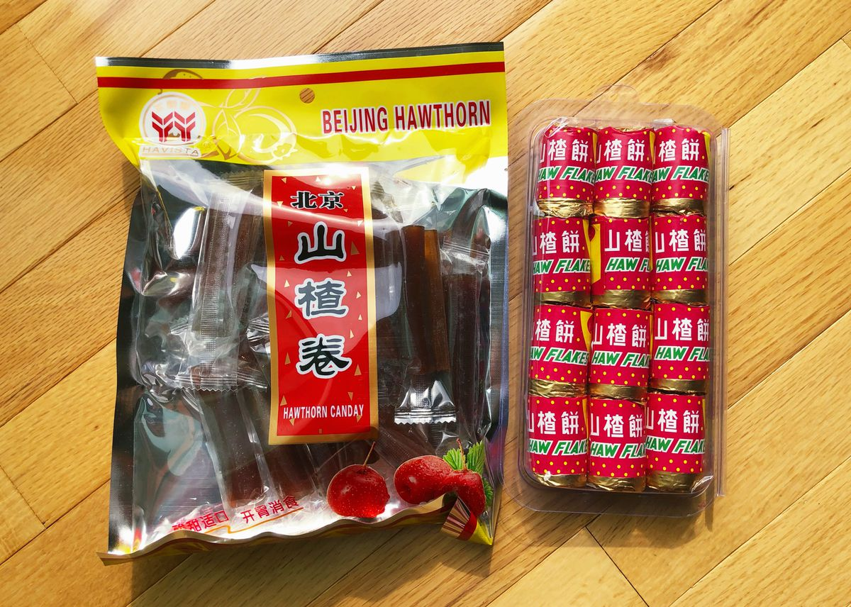 Two types of haw candy