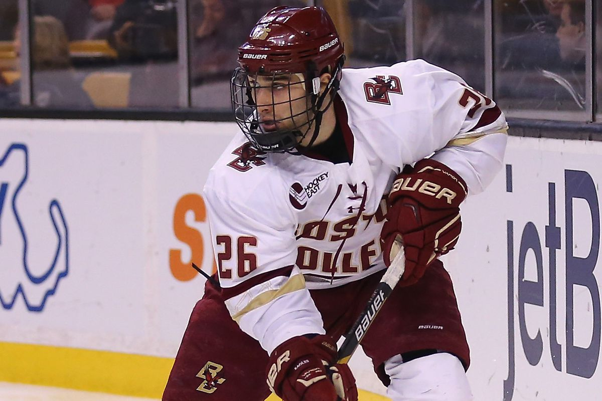 Austin Cangelosi is one of many players in the Devils Prospect Development Camp with BC ties.