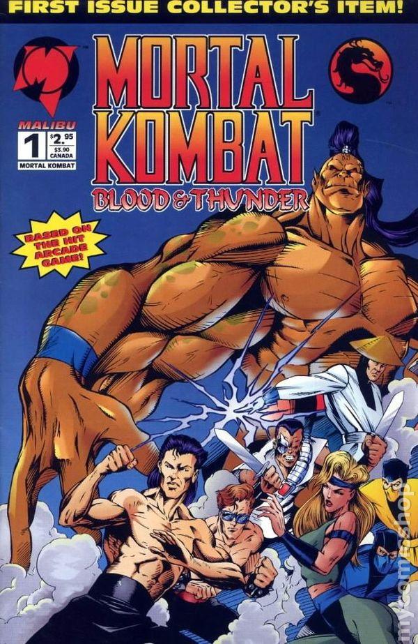 Cover of Mortal Kombat #1, Malibu Comics (1994).