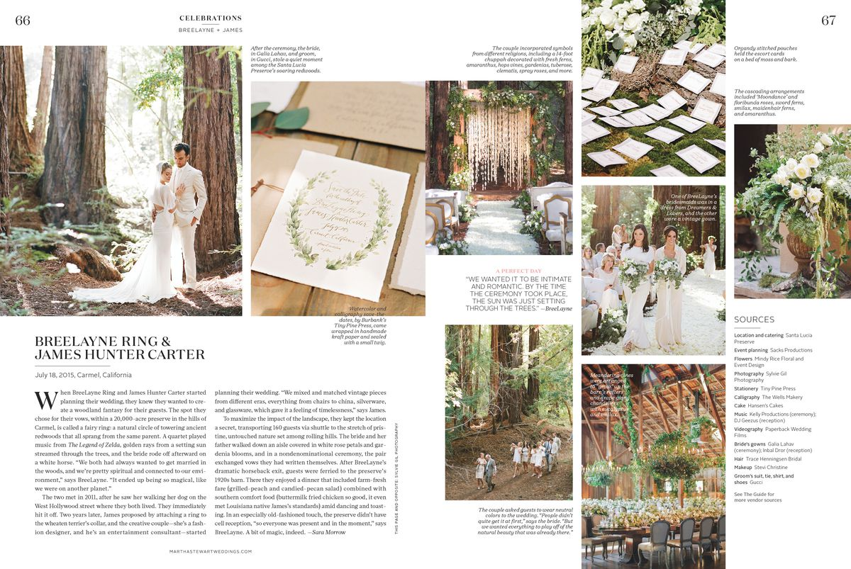 BreeLayne Martha Stewart Wedding