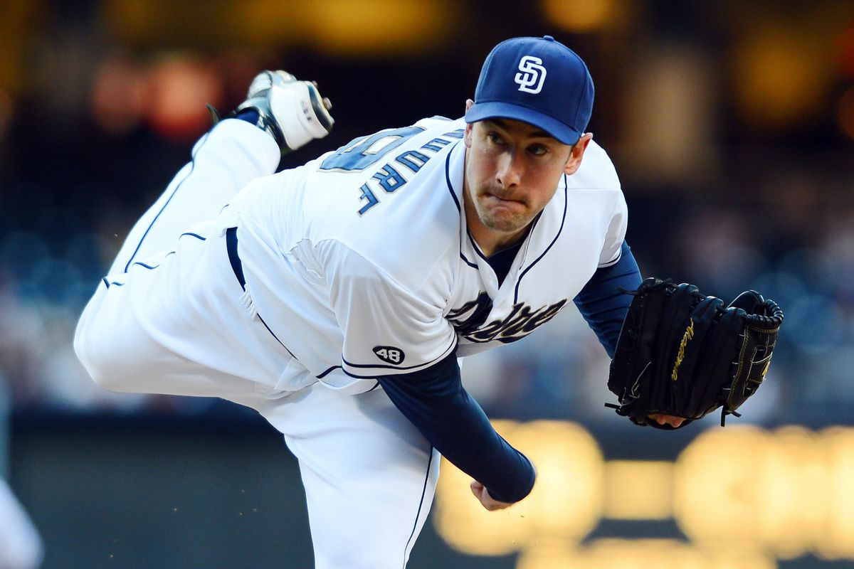 July 17, 2012; San Diego, CA, USA; San Diego Padres starting pitcher Ross Ohlendorf (59) throws during the first inning against the Houston Astros at Petco Park.  Mandatory Credit: Christopher Hanewinckel-US PRESSWIRE
