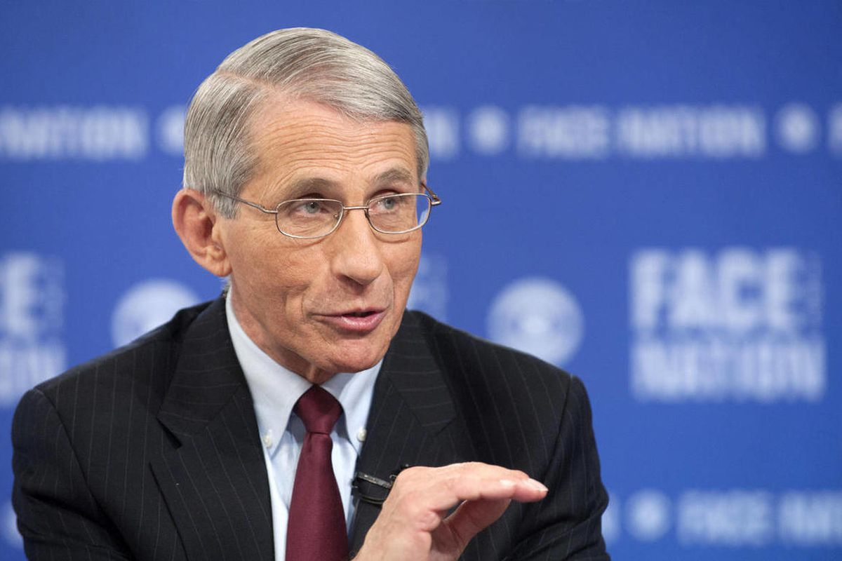 """In this photo provided by CBS News, the National Institute of Health's Dr. Anthony Fauci, the nation's top infectious disease expert, speaks on CBS's """"Face the Nation"""" in Washington. Speaking on the Ebola virus, Fauci said it's perfectly normal to feel an"""