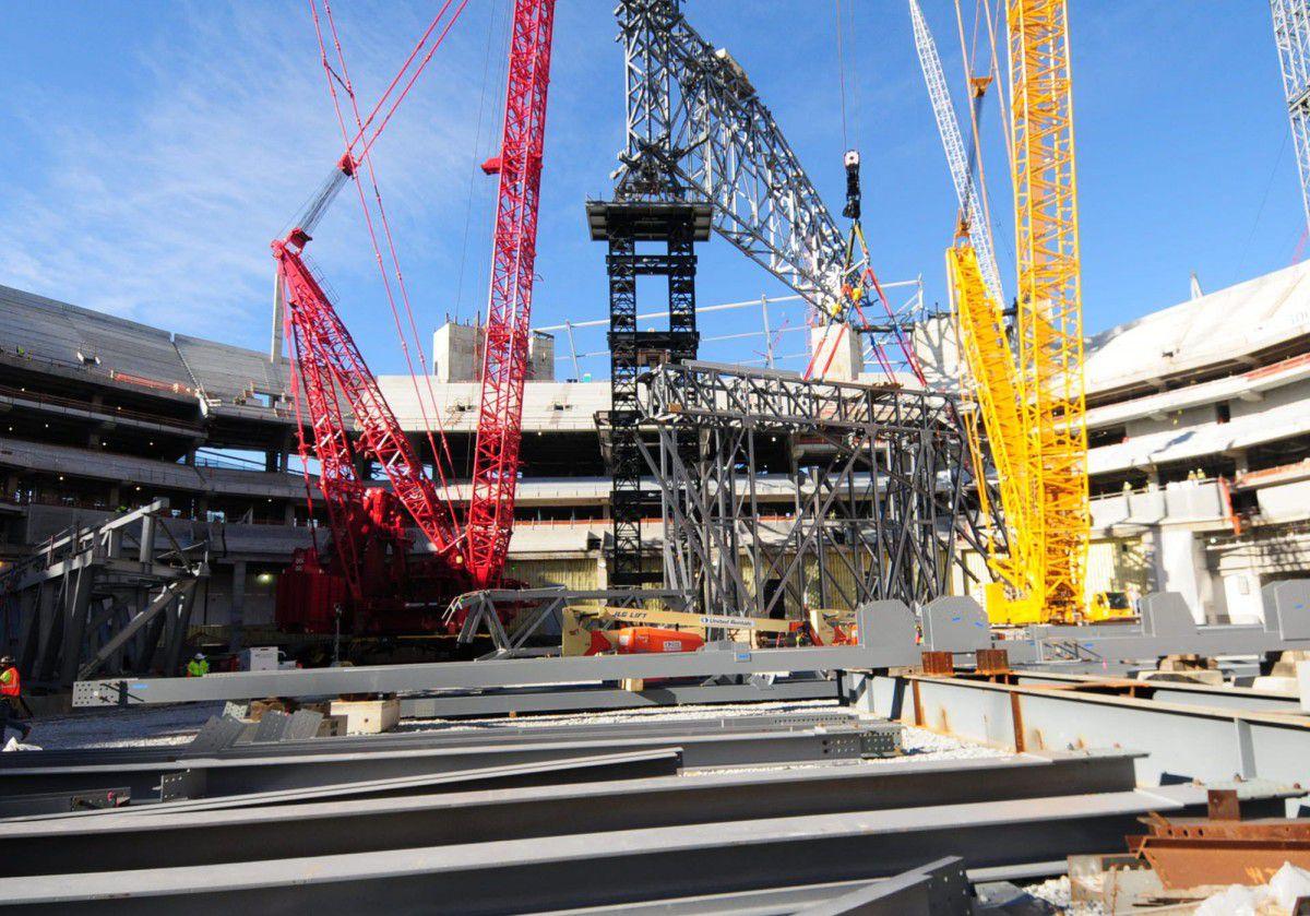 Photo of Mercedes-Benz Stadium progress