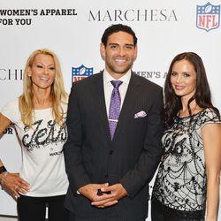 Suzanne Johnson, Jets quarterback Mark Sanchez, and Marchesa designer Georgina Chapman